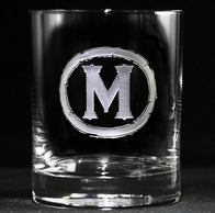 Monogram Rocks Glasses