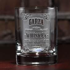 Engraved Whiskey, Bourbon, Scotch Glasses for Men