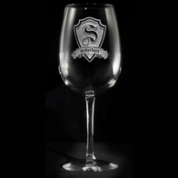 Personalized Engraved Wine Glasses with Monogram