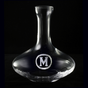 Etched Wine Decanter