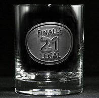 Finally Legal 21st Birthday Engraved Whiskey Glass