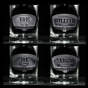 Groomsman, Best Man, Engraved Whiskey Scotch Glass Gift Ideas