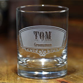 Engraved Whiskey Scotch Glass for Groomsmen