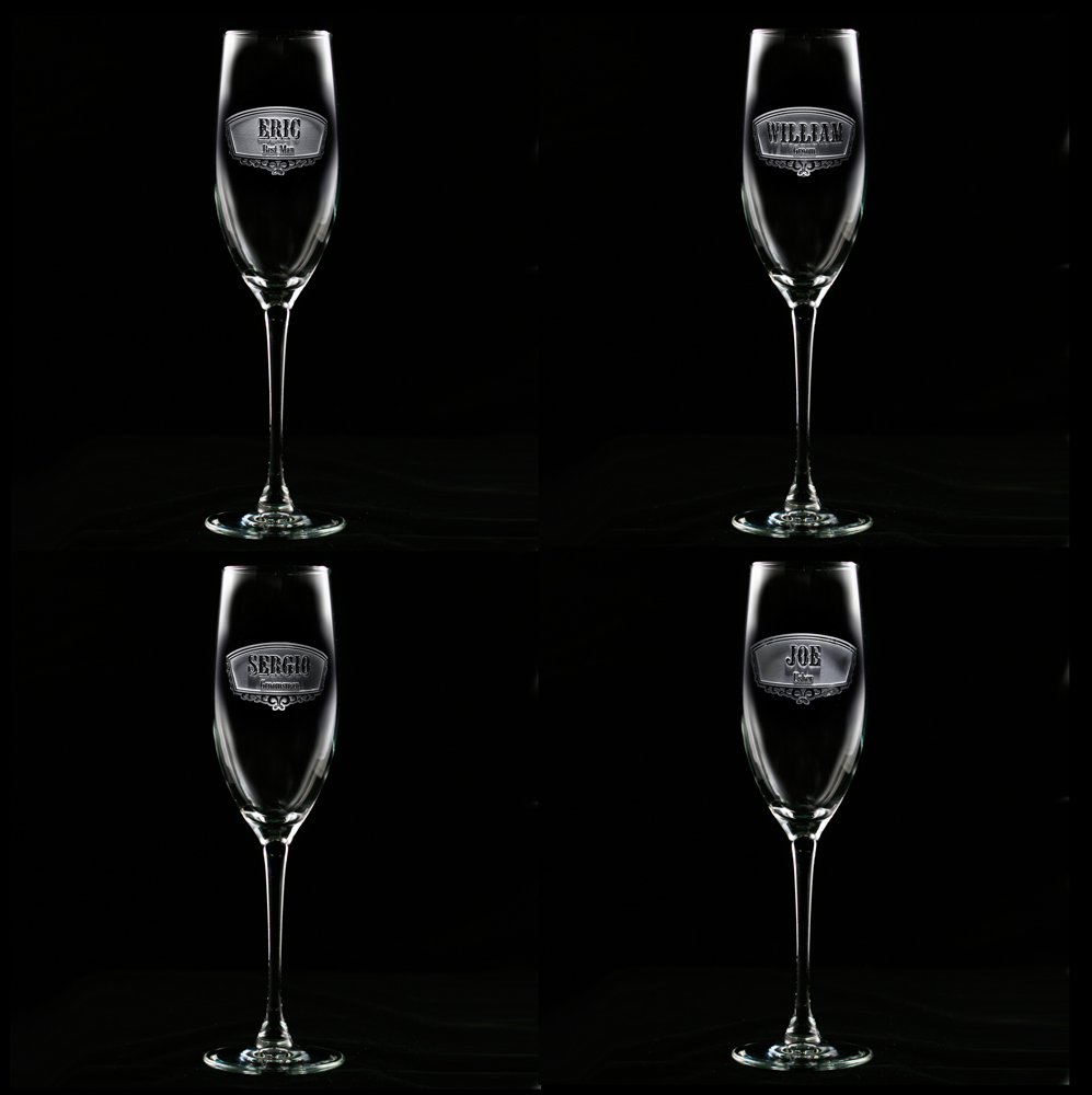 Wine Gles Set Champagne Wedding With Crystal In Pair