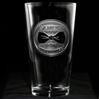 Groomsmen Bowtie Beer Glass