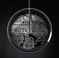 Hometown City Street Map Ornament