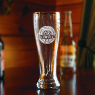 Hops Craft Beer Glass Engraved