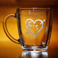 Initials in Heart Custom Coffee Mug
