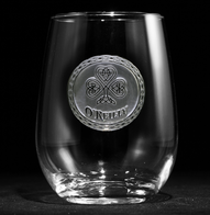 Irish Stemless Wine Glass