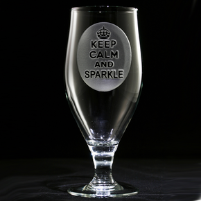 Keep Calm and Sparkle Goblet