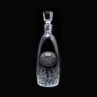 Logo Engraved Waterford Crystal Decanter