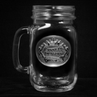 Logo Mason Jar Mugs, Engraved