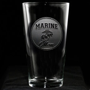 Marine Mom Pint Pub Glass