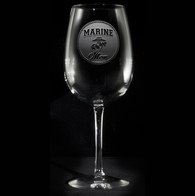 Marine Mom Wine Glass