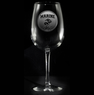 Marine Wife Wine Glass