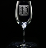 Monogram Engraved Wine Glasses