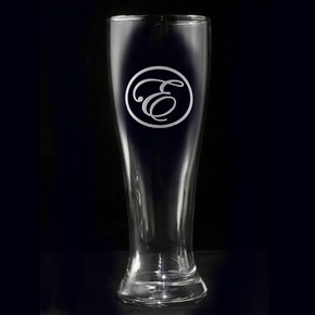 Monogram Pilsner Beer Glass