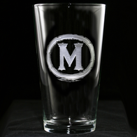 Monogram Pint Pub Glass