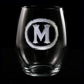 Monogramed Stemless Wine Glasses Wedding Gifts