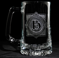Monogrammed Engraved Beer Glasses