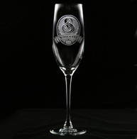 Monogrammed Engraved Champagne Glass