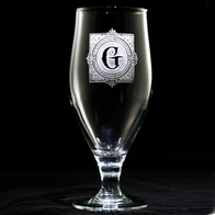 Monogrammed Engraved Goblet Water Glass