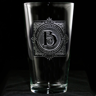 Monogrammed Engraved Pub Pint Beer Water Glass