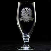 Monogrammed Goblets for Water and Iced Tea