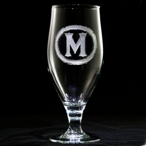 Monogrammed Water Glasses
