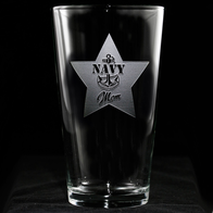 Navy Mom Pint Pub Beer Glass
