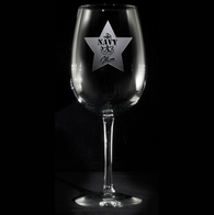 Navy Mom Wine Glass Gifts
