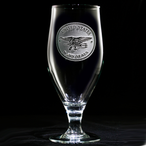 Navy Seal Engraved Water Iced Tea Goblet