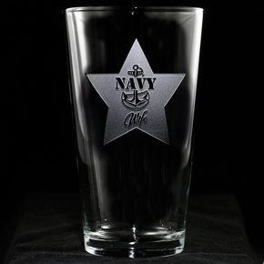 Navy Wife Pint Pub Beer Glass