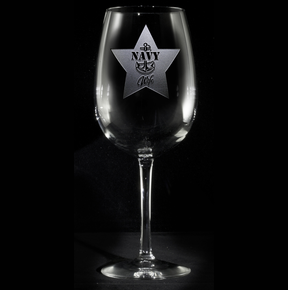 Navy Wife Wine Glass Gifts