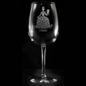 Personalized Bridesmaids Dress Wine Glasses