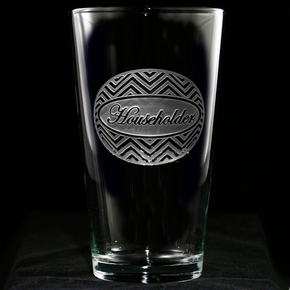 Personalized Chevron Zig Zag Pattern Engraved Pub Drinking Glasses