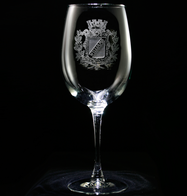 Personalized Family Crest Wine Glass