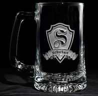 Personalized Shield Beer Mug