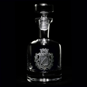 Personalized Engraved Family Crest Whisky Decanter