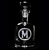 Personalized Etched Whiskey Scotch Decanter