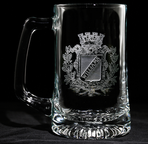 Personalized Family Crest Beer Mug