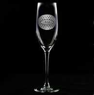 Personalized Golf Ball Pattern Champagne Glass Flutes