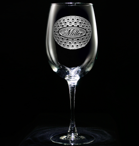 Personalized Golf Lovers Engraved Wine Glass Gifts