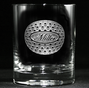 Personalized Golf Lovers Whiskey Scotch Glasses