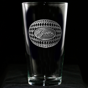 Personalized Harlequin Diamond Engraved Pub Beer Glasses