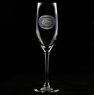 Personalized Harlequin Pattern Engraved Champagne Glasses Flutes