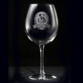 Personalized Monogram Red Wine Glass