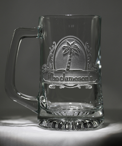Personalized Palm Tree Beer Mug