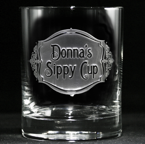 Personalized Sippy Cup Whiskey Glass