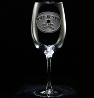 Skull and Bones Wine Glass Personalized